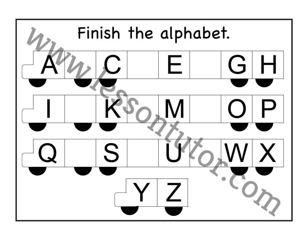 Missing Alphabet Worksheets For Kindergarten