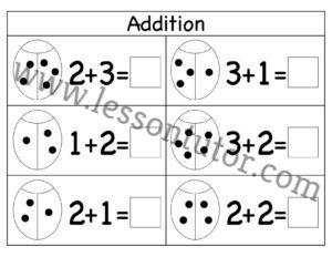 Picture Addition Worksheet Kindergarten 4 Lesson Tutor