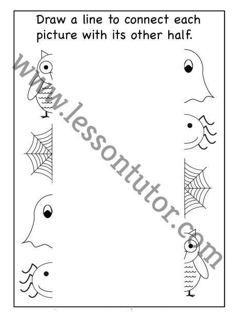 Tracing And Coloring Worksheet Preschool - 2 - Lesson Tutor